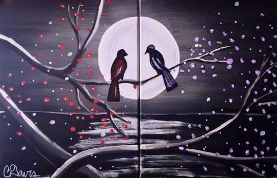 Sip & Paint Pairs Love Birds