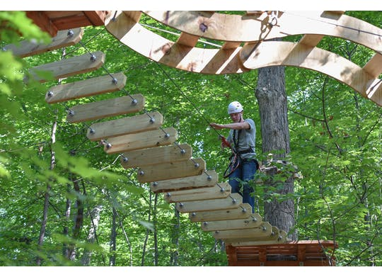 Lake Erie Canopy Tour Challenge Course 1