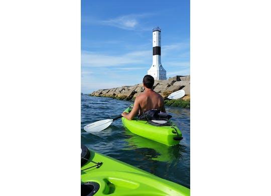 Conneaut Lighthouse with kayak