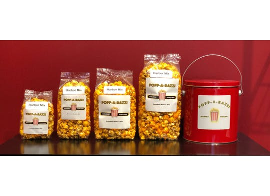 Popp-A-Razzi bags of popcorn
