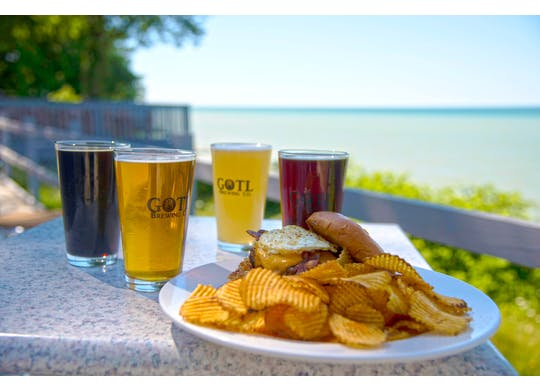 GOTL Brewing View With Food