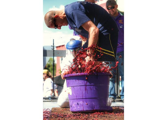 Grape Stomping Fire Chief