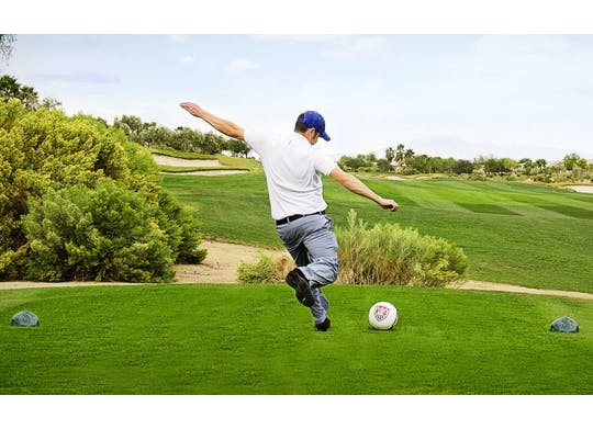 Footgolf Man Kicking