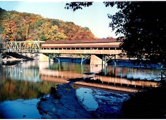 Harpersfield Bridge Fall Colors