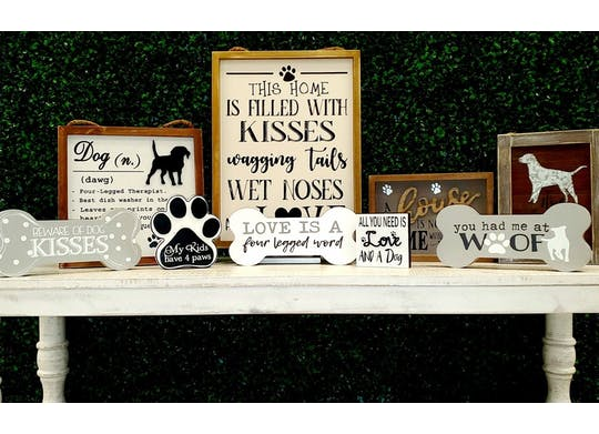 Ruff Life Gift Shop Signs