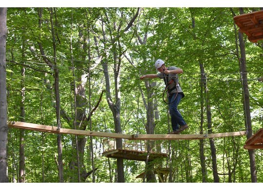 Lake Erie Canopy Tour Challenge Course